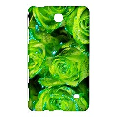 Festive Green Glitter Roses Valentine Love  Samsung Galaxy Tab 4 (7 ) Hardshell Case  by yoursparklingshop