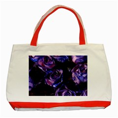 Purple Glitter Roses Valentine Love Classic Tote Bag (red) by yoursparklingshop