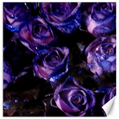 Purple Glitter Roses Valentine Love Canvas 12  X 12   by yoursparklingshop
