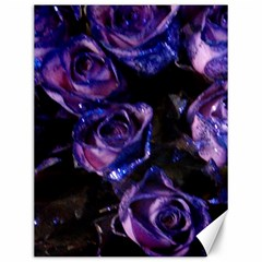 Purple Glitter Roses Valentine Love Canvas 12  X 16   by yoursparklingshop