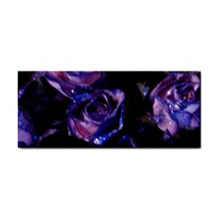 Purple Glitter Roses Valentine Love Hand Towel by yoursparklingshop