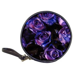 Purple Glitter Roses Valentine Love Classic 20 Cd Wallets by yoursparklingshop