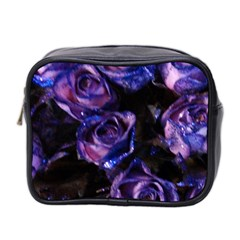 Purple Glitter Roses Valentine Love Mini Toiletries Bag 2 Side by yoursparklingshop