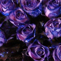 Purple Glitter Roses Valentine Love Magic Photo Cubes by yoursparklingshop