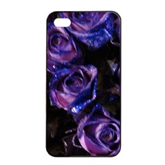 Purple Glitter Roses Valentine Love Apple Iphone 4/4s Seamless Case (black) by yoursparklingshop