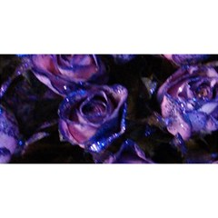 Purple Glitter Roses Valentine Love You Are Invited 3d Greeting Card (8x4)  by yoursparklingshop