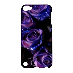 Purple Glitter Roses Valentine Love Apple Ipod Touch 5 Hardshell Case by yoursparklingshop
