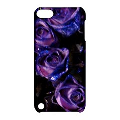 Purple Glitter Roses Valentine Love Apple Ipod Touch 5 Hardshell Case With Stand by yoursparklingshop