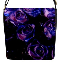 Purple Glitter Roses Valentine Love Flap Messenger Bag (s) by yoursparklingshop
