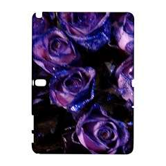 Purple Glitter Roses Valentine Love Samsung Galaxy Note 10 1 (p600) Hardshell Case by yoursparklingshop