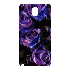 Purple Glitter Roses Valentine Love Samsung Galaxy Note 3 N9005 Hardshell Back Case by yoursparklingshop