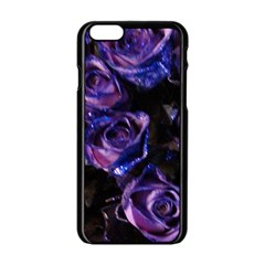 Purple Glitter Roses Valentine Love Apple Iphone 6/6s Black Enamel Case by yoursparklingshop