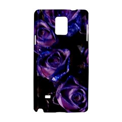 Purple Glitter Roses Valentine Love Samsung Galaxy Note 4 Hardshell Case by yoursparklingshop