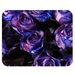 Purple Glitter Roses Valentine Love Double Sided Flano Blanket (medium)  by yoursparklingshop