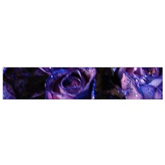 Purple Glitter Roses Valentine Love Flano Scarf (small) by yoursparklingshop