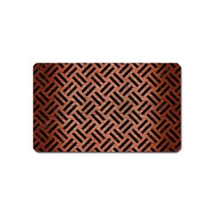Woven2 Black Marble & Copper Brushed Metal (r) Magnet (name Card) by trendistuff