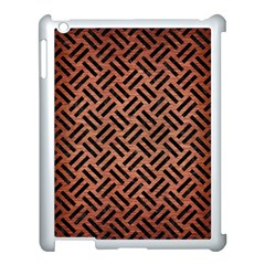 Woven2 Black Marble & Copper Brushed Metal (r) Apple Ipad 3/4 Case (white) by trendistuff