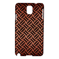 Woven2 Black Marble & Copper Brushed Metal (r) Samsung Galaxy Note 3 N9005 Hardshell Case by trendistuff