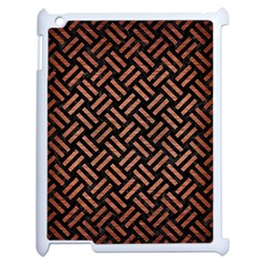 Woven2 Black Marble & Copper Brushed Metal Apple Ipad 2 Case (white) by trendistuff