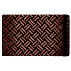 Woven2 Black Marble & Copper Brushed Metal Apple Ipad 3/4 Flip Case by trendistuff