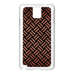Woven2 Black Marble & Copper Brushed Metal Samsung Galaxy Note 3 N9005 Case (white) by trendistuff