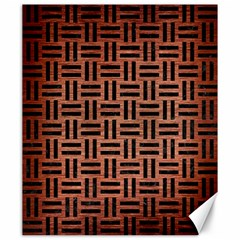 Woven1 Black Marble & Copper Brushed Metal (r) Canvas 20  X 24  by trendistuff
