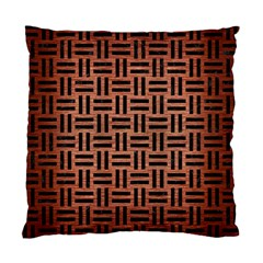 Woven1 Black Marble & Copper Brushed Metal (r) Standard Cushion Case (two Sides) by trendistuff