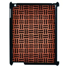 Woven1 Black Marble & Copper Brushed Metal (r) Apple Ipad 2 Case (black) by trendistuff