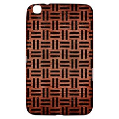 Woven1 Black Marble & Copper Brushed Metal (r) Samsung Galaxy Tab 3 (8 ) T3100 Hardshell Case  by trendistuff