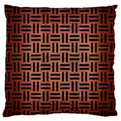 Woven1 Black Marble & Copper Brushed Metal (r) Standard Flano Cushion Case (two Sides) by trendistuff