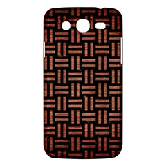 Woven1 Black Marble & Copper Brushed Metal Samsung Galaxy Mega 5 8 I9152 Hardshell Case  by trendistuff