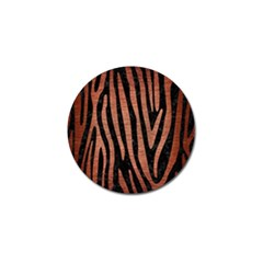 Skin4 Black Marble & Copper Brushed Metal (r) Golf Ball Marker (4 Pack) by trendistuff