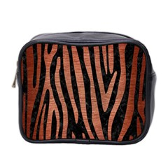 Skin4 Black Marble & Copper Brushed Metal (r) Mini Toiletries Bag (two Sides)