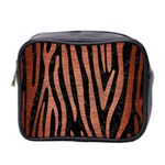 SKIN4 BLACK MARBLE & COPPER BRUSHED METAL (R) Mini Toiletries Bag (Two Sides) Front