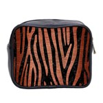 SKIN4 BLACK MARBLE & COPPER BRUSHED METAL (R) Mini Toiletries Bag (Two Sides) Back