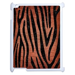Skin4 Black Marble & Copper Brushed Metal Apple Ipad 2 Case (white) by trendistuff