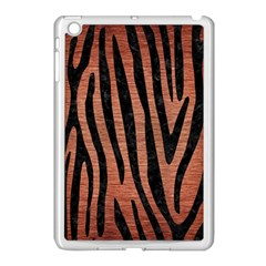 Skin4 Black Marble & Copper Brushed Metal Apple Ipad Mini Case (white) by trendistuff
