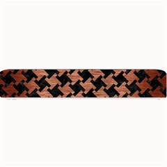 Houndstooth2 Black Marble & Copper Brushed Metal Small Bar Mat by trendistuff