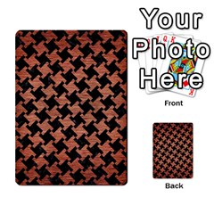 Houndstooth2 Black Marble & Copper Brushed Metal Multi Purpose Cards (rectangle) by trendistuff