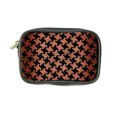 Houndstooth2 Black Marble & Copper Brushed Metal Coin Purse by trendistuff