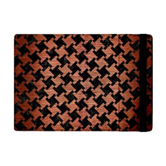 Houndstooth2 Black Marble & Copper Brushed Metal Apple Ipad Mini 2 Flip Case by trendistuff