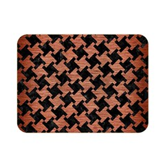 Houndstooth2 Black Marble & Copper Brushed Metal Double Sided Flano Blanket (mini) by trendistuff