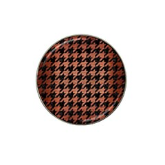 Houndstooth1 Black Marble & Copper Brushed Metal Hat Clip Ball Marker (4 Pack) by trendistuff