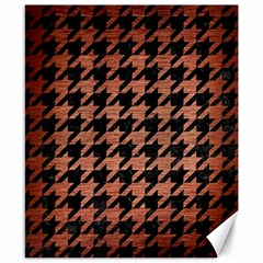 Houndstooth1 Black Marble & Copper Brushed Metal Canvas 8  X 10  by trendistuff
