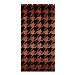 Houndstooth1 Black Marble & Copper Brushed Metal Shower Curtain 36  X 72  (stall) by trendistuff
