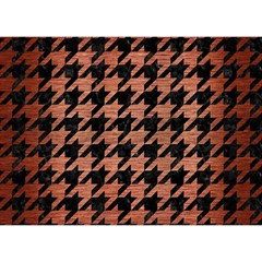 Houndstooth1 Black Marble & Copper Brushed Metal Birthday Cake 3d Greeting Card (7x5) by trendistuff