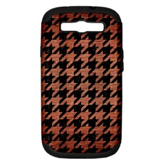Houndstooth1 Black Marble & Copper Brushed Metal Samsung Galaxy S Iii Hardshell Case (pc+silicone) by trendistuff