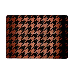 Houndstooth1 Black Marble & Copper Brushed Metal Apple Ipad Mini Flip Case by trendistuff