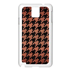 Houndstooth1 Black Marble & Copper Brushed Metal Samsung Galaxy Note 3 N9005 Case (white) by trendistuff