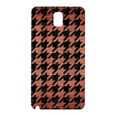 Houndstooth1 Black Marble & Copper Brushed Metal Samsung Galaxy Note 3 N9005 Hardshell Back Case by trendistuff